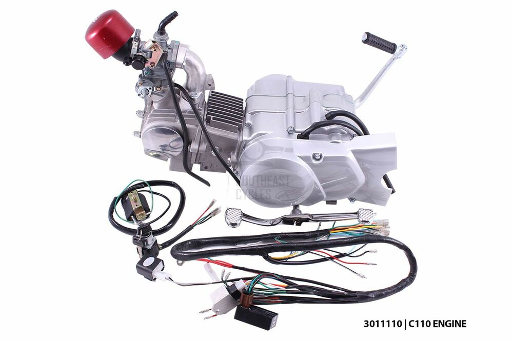 New 110cc complete engine to fit Honda C50 C65 C70 Chaly ...