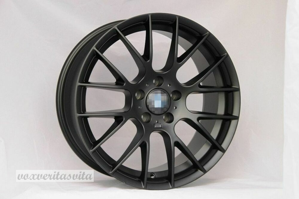18 Quot Wheels Rims Csl Style Black Machine M3 Fits Bmw E46