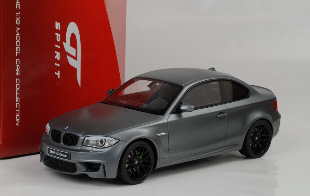 2013 bmw m1 coupe e82 1er series flat grey matt grau 1 18 gt spirit ebay. Black Bedroom Furniture Sets. Home Design Ideas