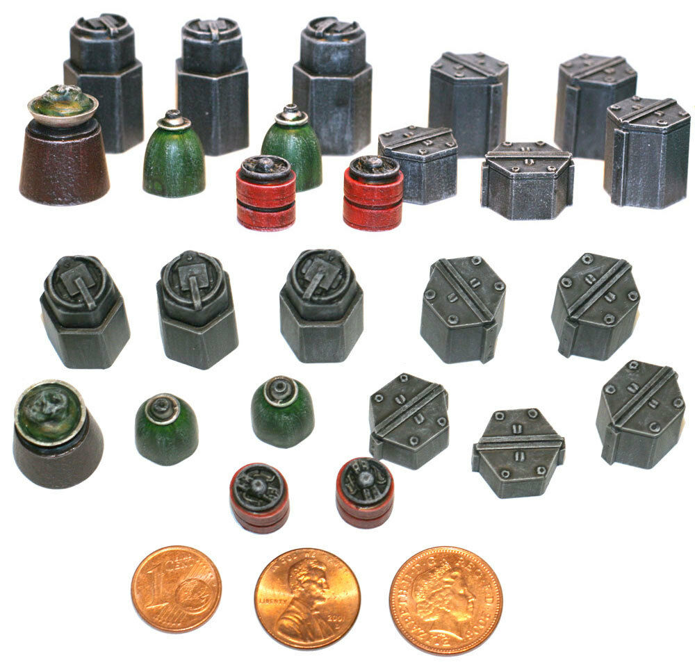 Sci Fi Fuel : Sci fi supplies fuel drums pieces warhammer