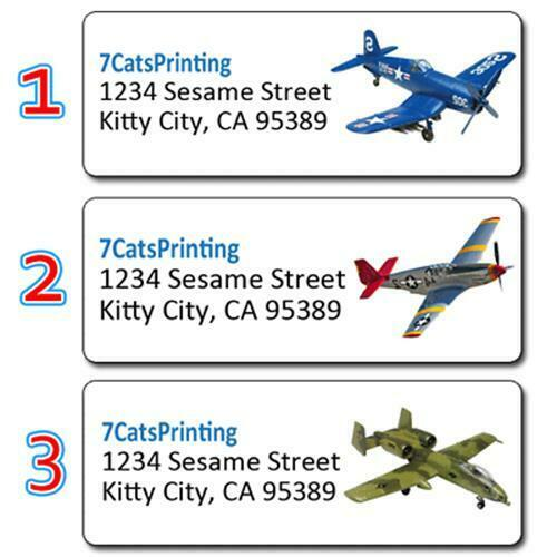 Classic warplanes personalized return address labels for Custom mailing stickers