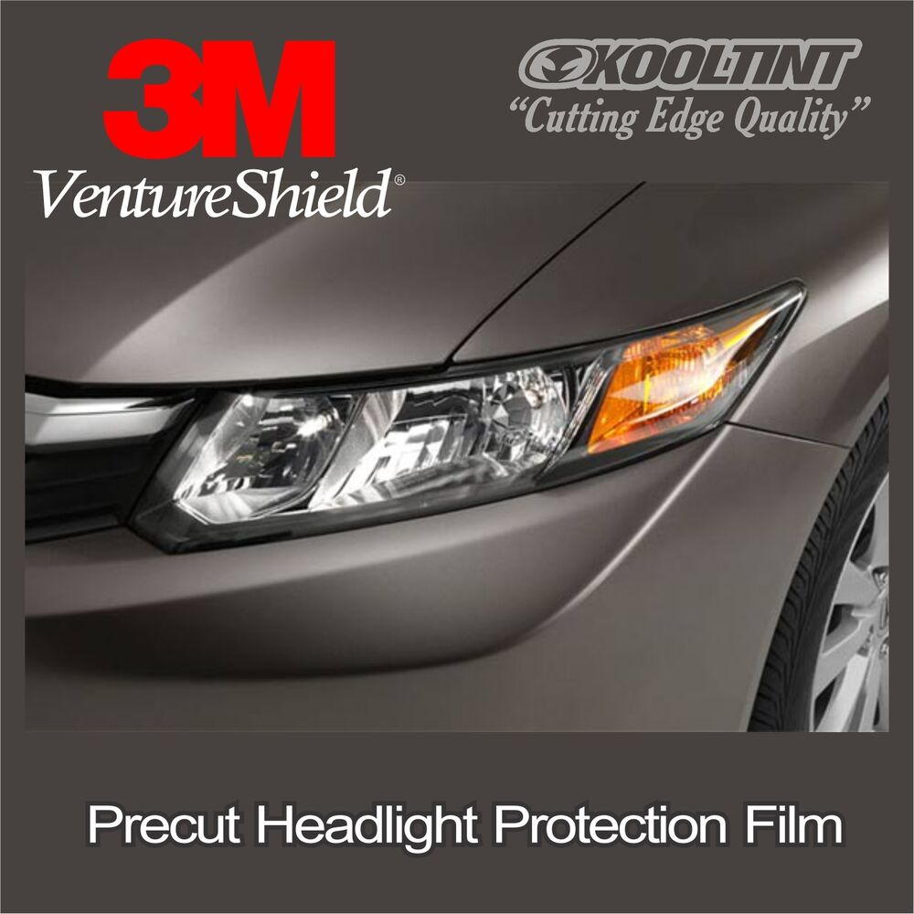 headlight protection film by 3m for the 2013 2015 honda civic sedan ebay. Black Bedroom Furniture Sets. Home Design Ideas