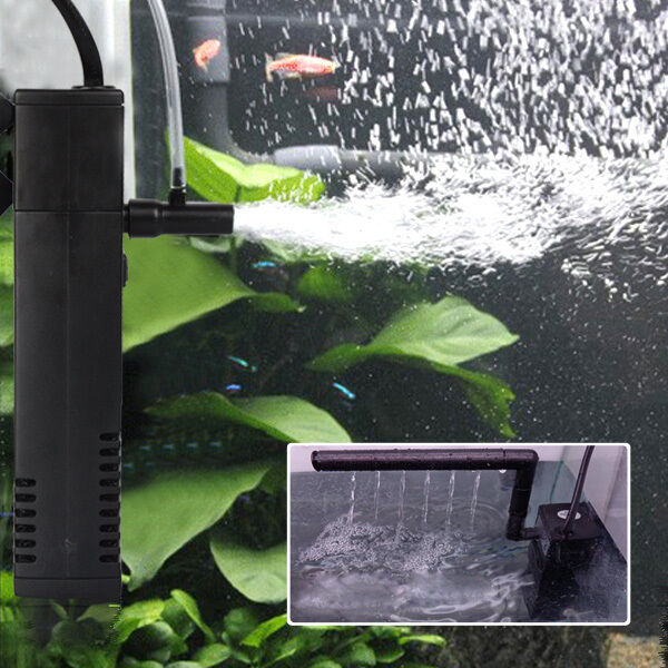 aquarium innenfilter aquarienfilter pumpe kompakt filter mit spr hrohr 4w 300l h ebay. Black Bedroom Furniture Sets. Home Design Ideas