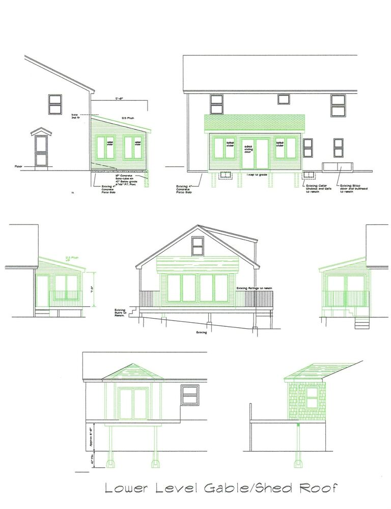 Sunroom Plan Blueprints Covered Deck 3 Season Room 16 39 X12
