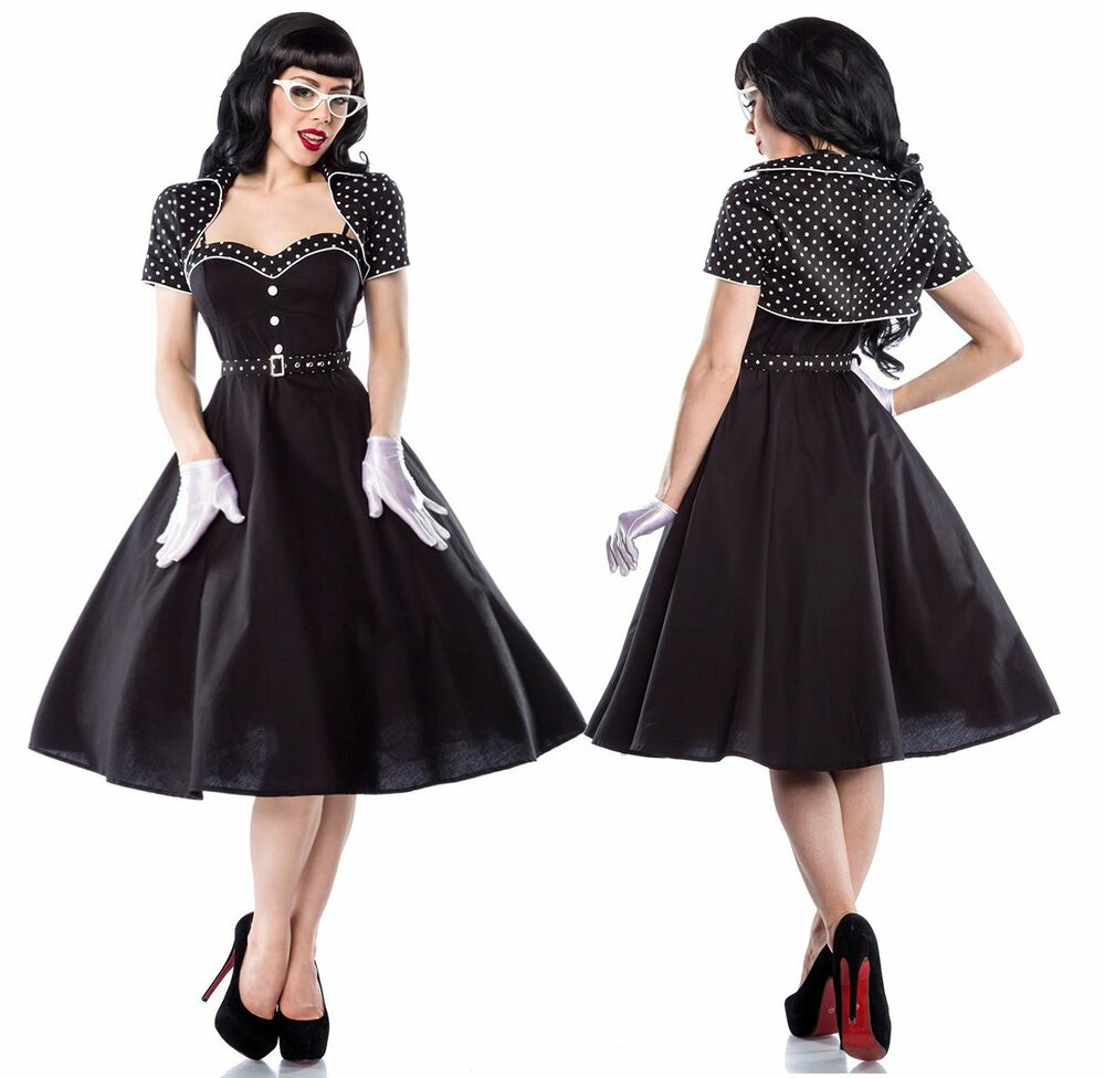 50er jahre pin up vintage rockabilly kleid klara mit bolero petticoat rock ebay. Black Bedroom Furniture Sets. Home Design Ideas