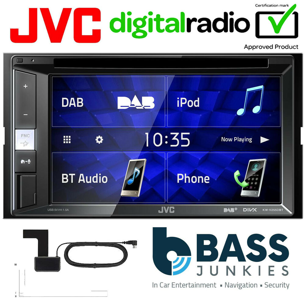 jvc kw v235dbt 6 2 double din dab radio dvd usb iphone. Black Bedroom Furniture Sets. Home Design Ideas