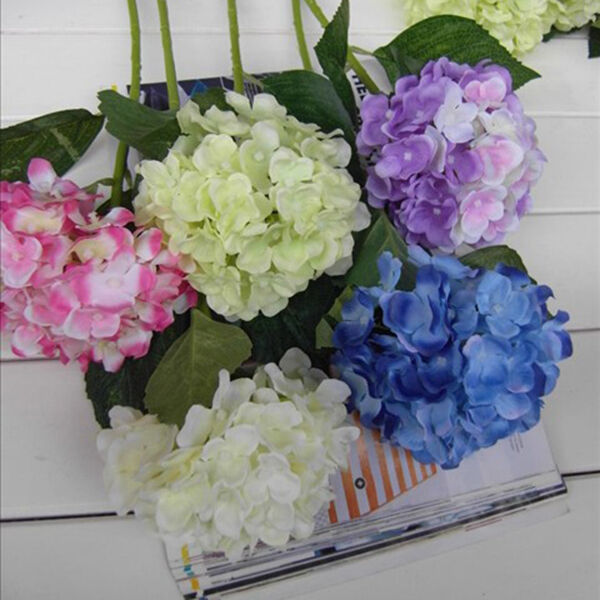 Faux Artificial Silk Flower Bouquet Hydrangea Home Wedding Floral Decor Ebay