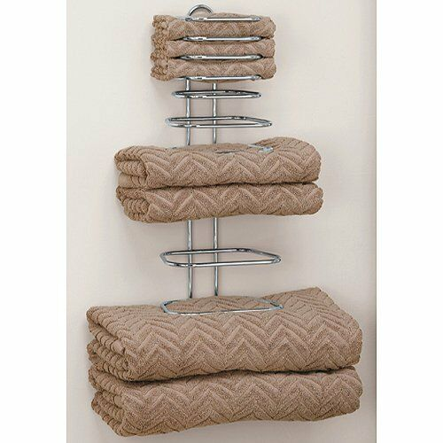 Taymor Hotel Chrome Four Guest Towel Holders New Free