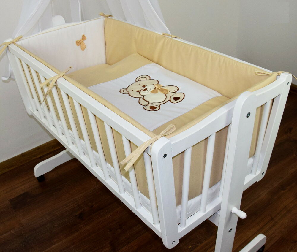 baby bettw sche himmel nestchen bettset mit applikation f r die wiege design 1k ebay. Black Bedroom Furniture Sets. Home Design Ideas