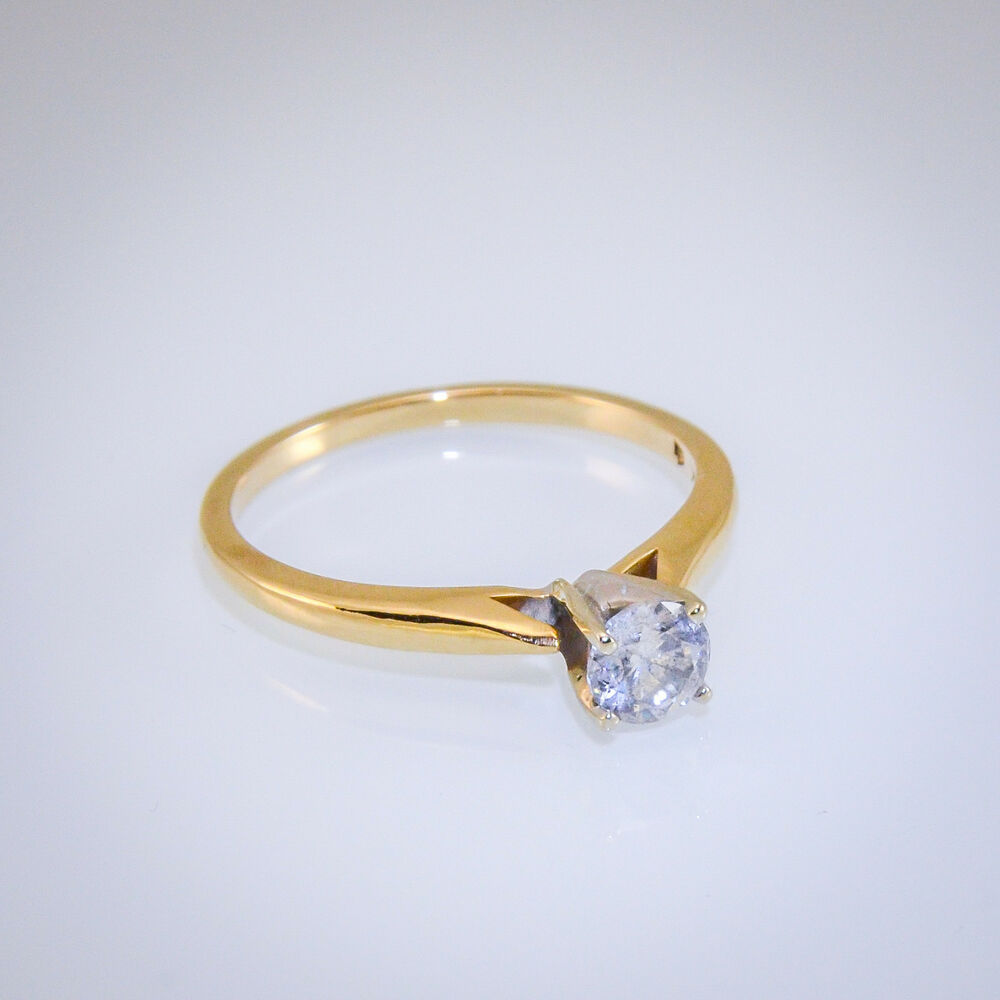 14k Gold 1 2ct Diamond Soloitare Engagement Ring