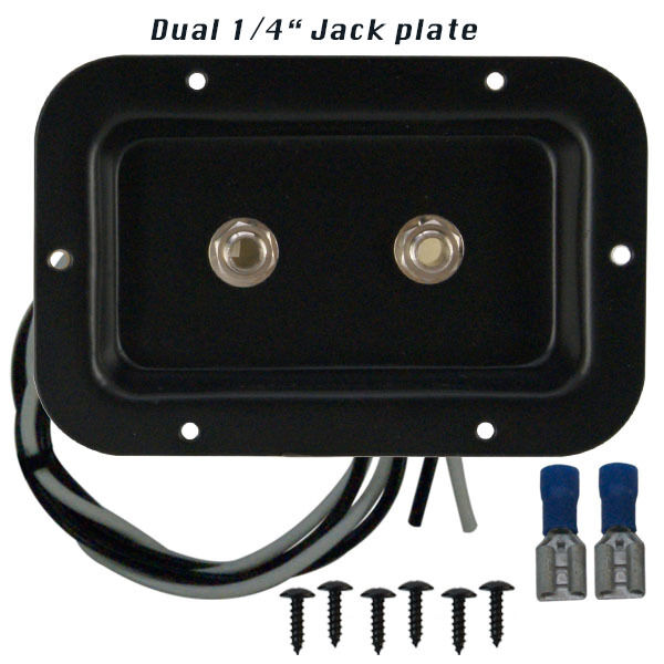 speaker jack plate with 2 switchcraft 1 4 connectors for pa or guitar cabinets ebay. Black Bedroom Furniture Sets. Home Design Ideas