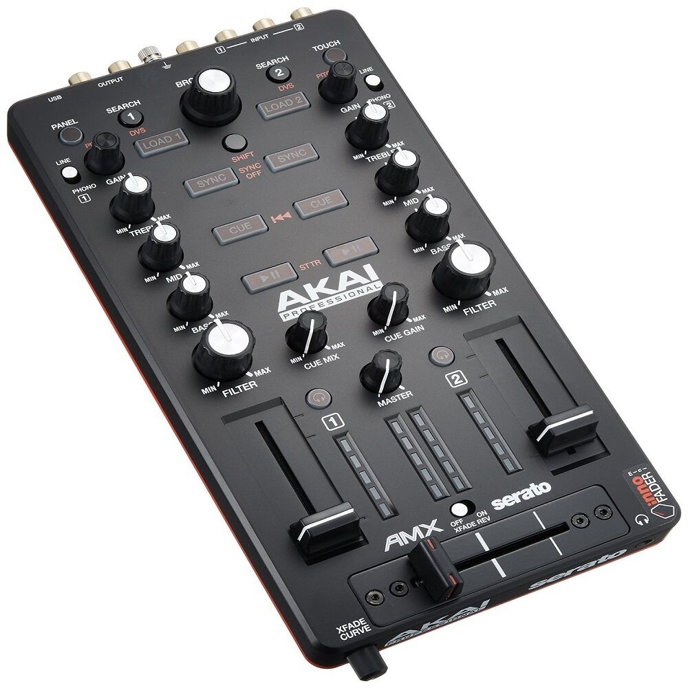 akai amx 2 channel mixing surface audio interface mixer with serato dj software ebay. Black Bedroom Furniture Sets. Home Design Ideas