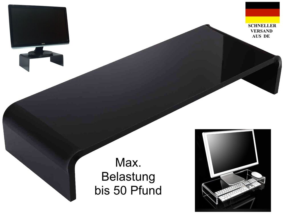 monitorst nder erh hung bildschirm st nder tv lcd aufsatz bank podest aufsteller ebay. Black Bedroom Furniture Sets. Home Design Ideas