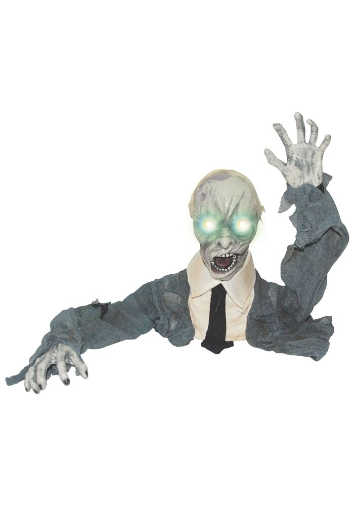 Halloween ground breaker zombie animated prop horror lawn for Animated halloween decoration