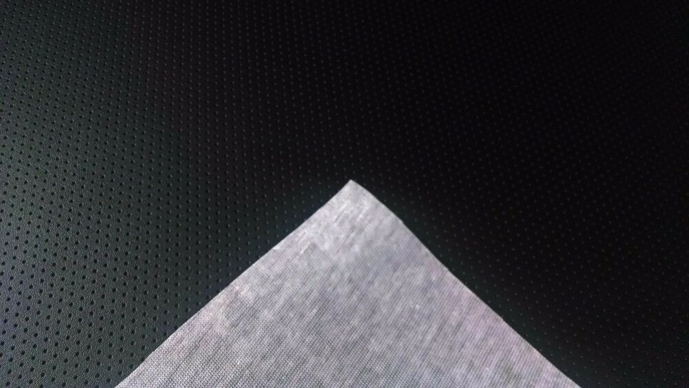 15 feet black perforated marine vinyl fabric outdoor boat auto upholstery 54 w ebay. Black Bedroom Furniture Sets. Home Design Ideas