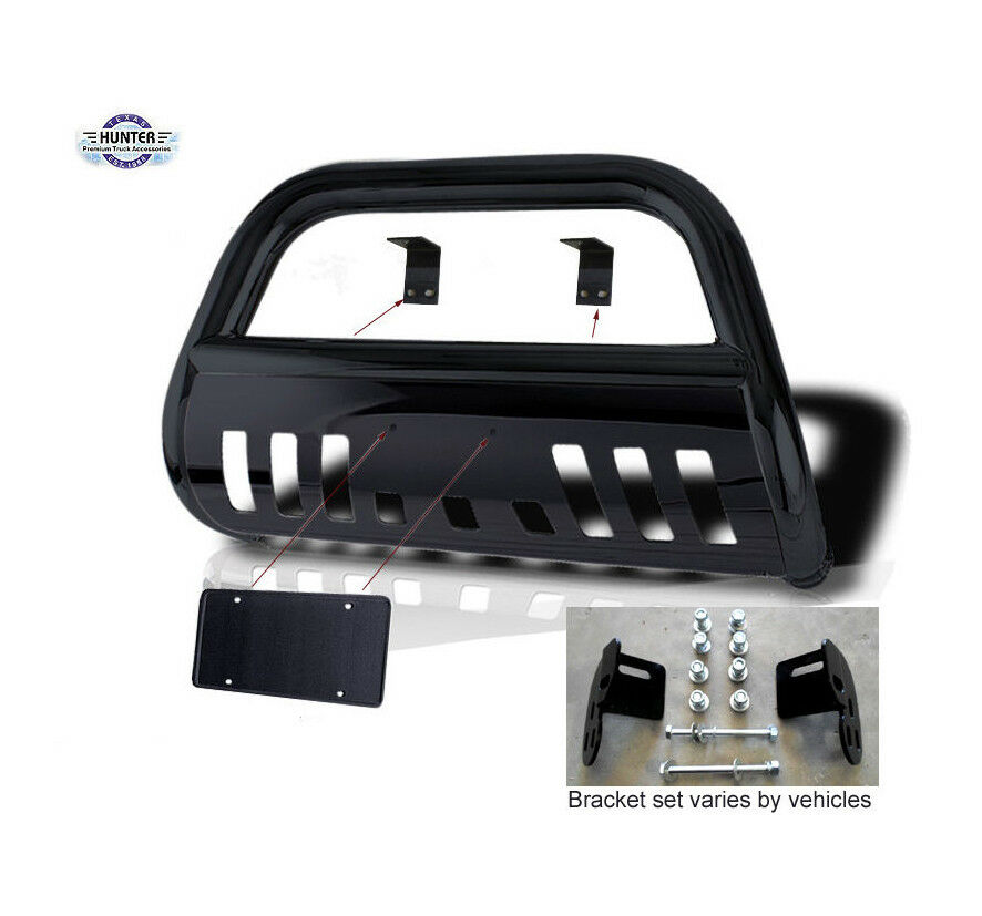 Fits 1998 2004 Nissan Frontier Classic Bull Bar Black