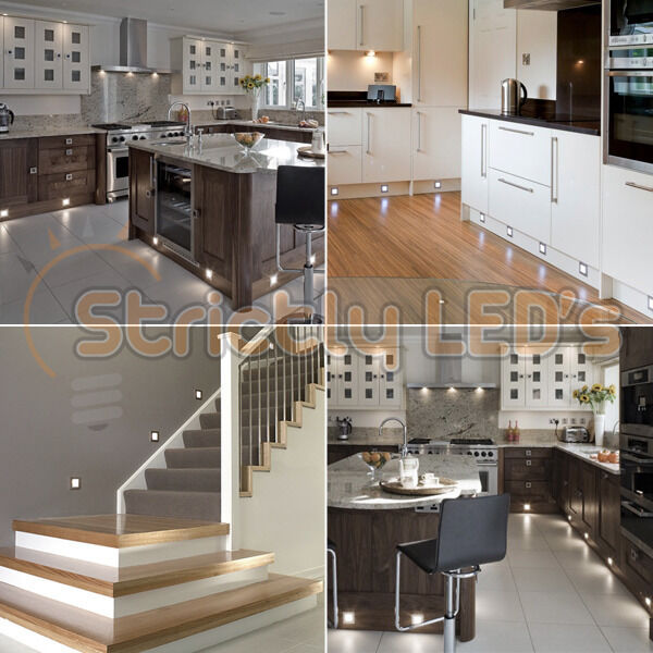plinth lighting for kitchens 10 x square cool white led decking lights kitchen 4285