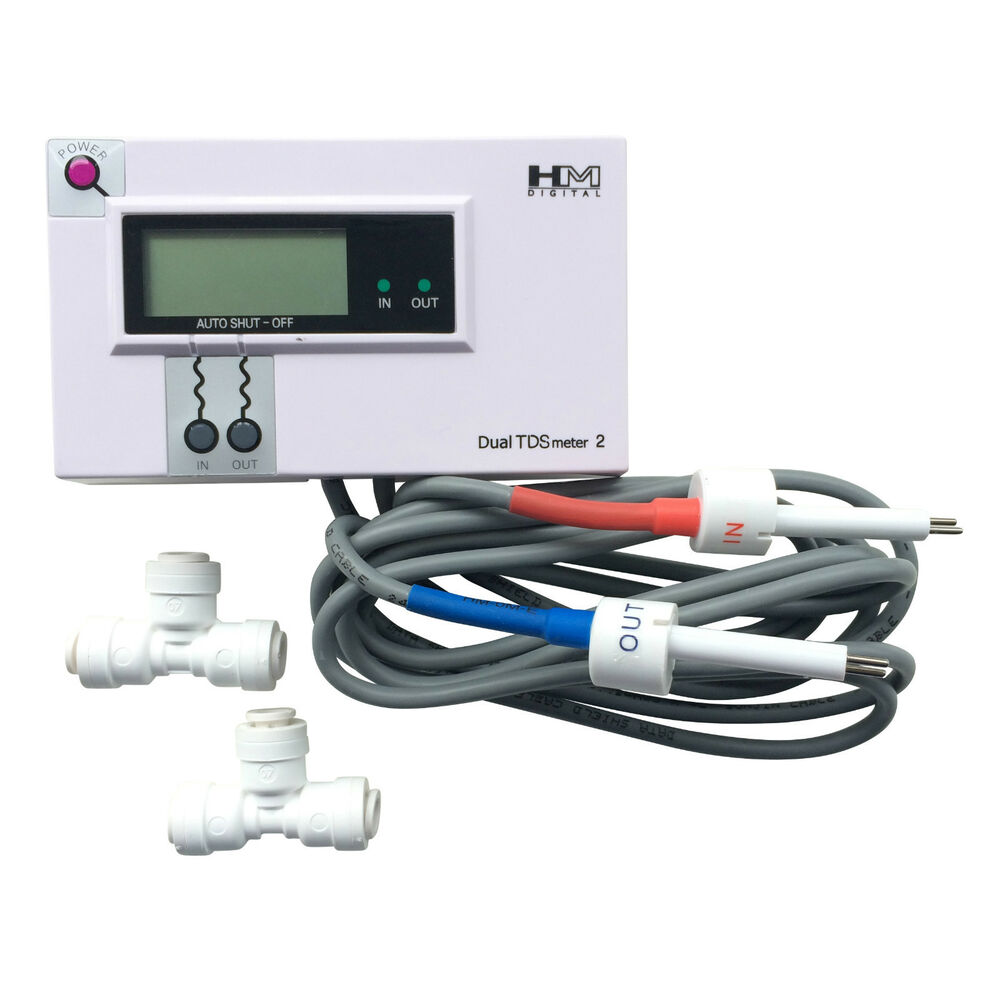 In Line Conductivity Meter : Hm digital dm dual inline tds meter monitor commercial