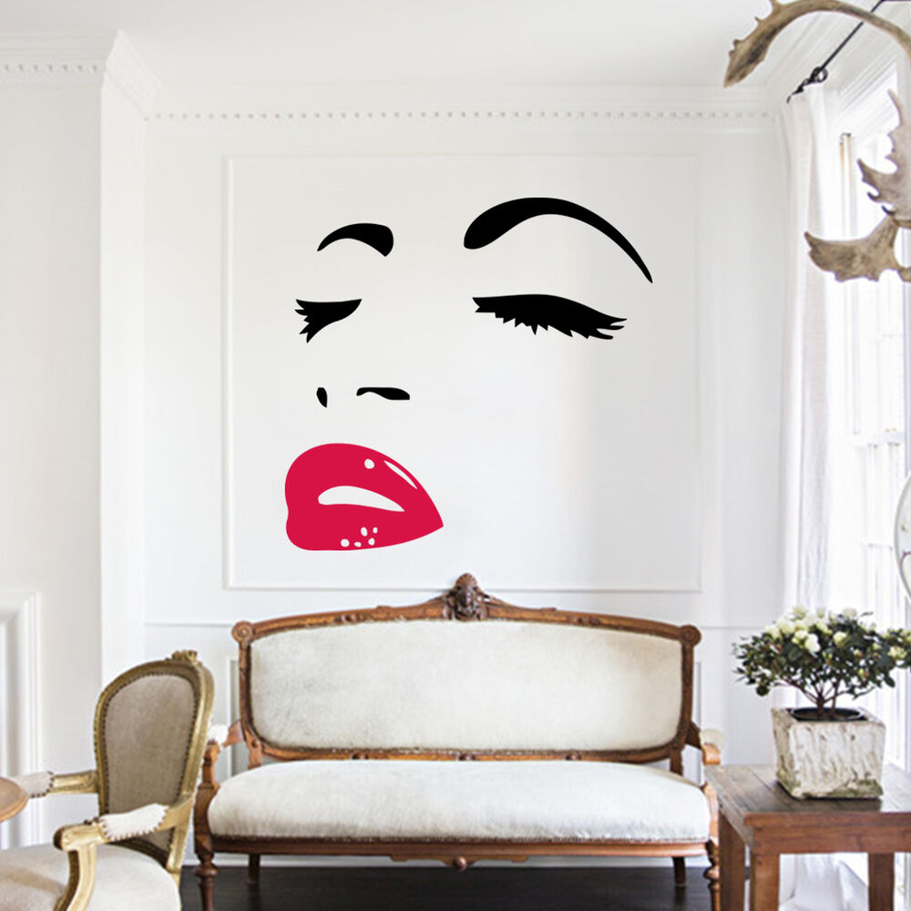 sexy art home decor wall sticker mural decal marilyn monroe home decoration ebay. Black Bedroom Furniture Sets. Home Design Ideas