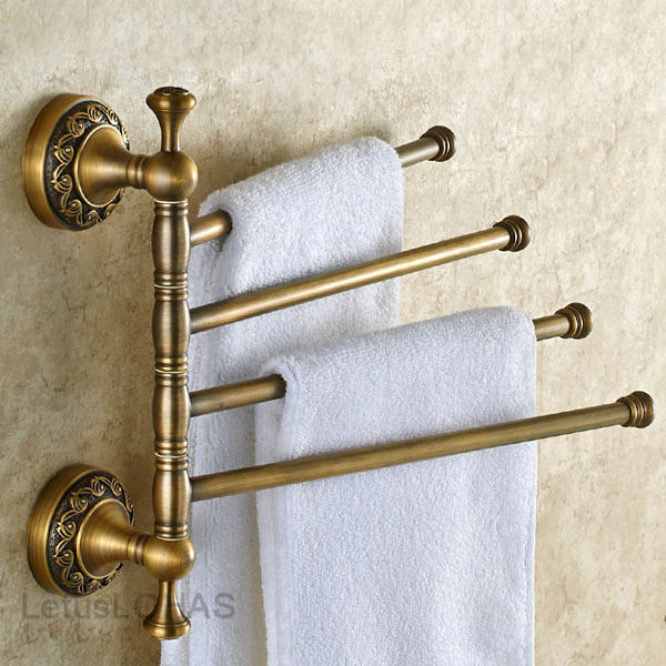 Luxury Antique Brass Towel Bars Wall Mounted Art Carved Bath Towel Rail Rack Ebay