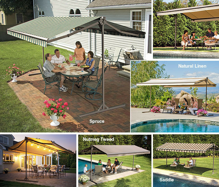 12 39 Sunsetter Oasis Freestanding Retractable Motorized