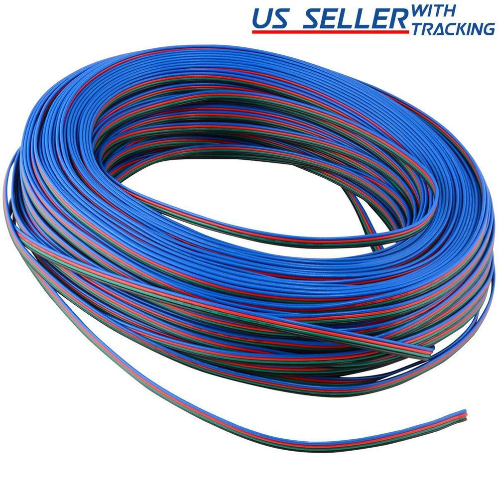 6ft 6 foot 2 meters four conductor wire for rgb led. Black Bedroom Furniture Sets. Home Design Ideas