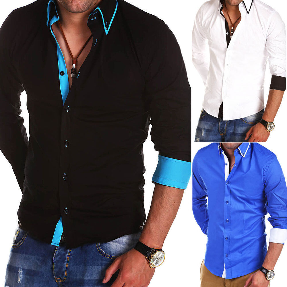Mens designer slim fit shirts casual shirt t shirt polo for Men slim fit shirts