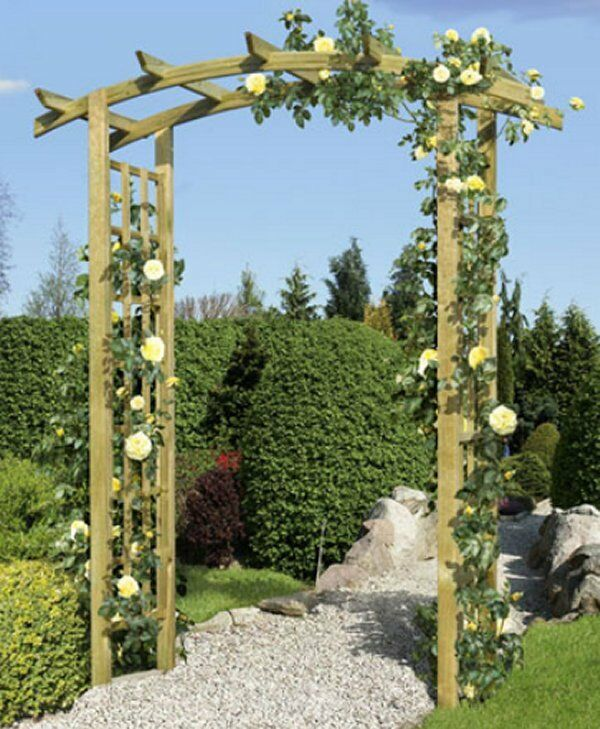 gartenpergola garteneingang torbogen rosenbogen pergola rankgitter aus holz ebay. Black Bedroom Furniture Sets. Home Design Ideas