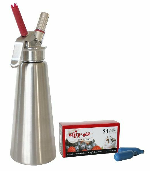 Whip It Dispenser ~ Whip eez stainless steel cream whipper dispenser