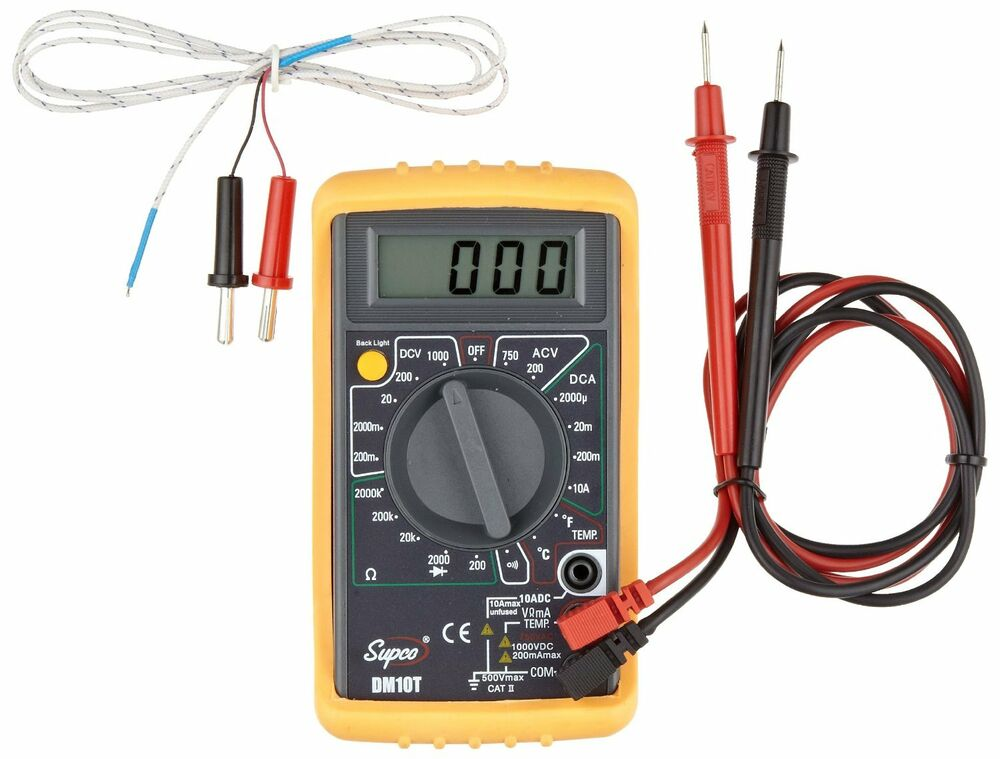 Digital Multimeter Meter Reading : Supco dm t economy digital multimeter with temperature