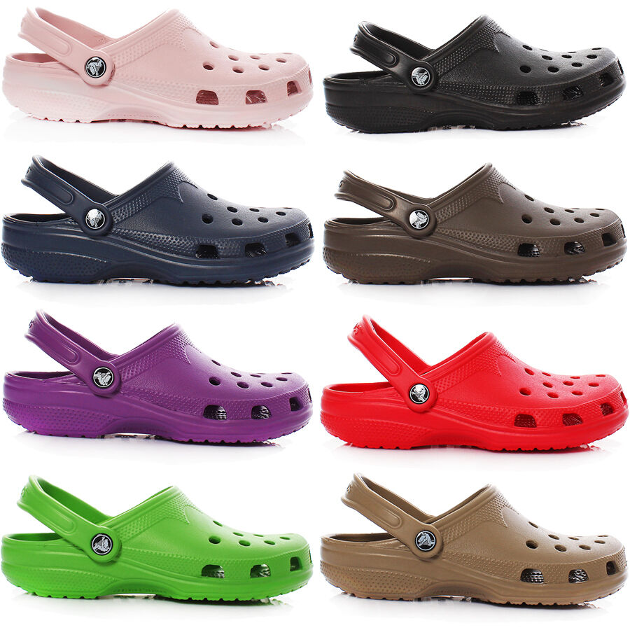 crocs beach classic clogs herren damen sandale badeschuhe schuhe pantoletten ebay. Black Bedroom Furniture Sets. Home Design Ideas
