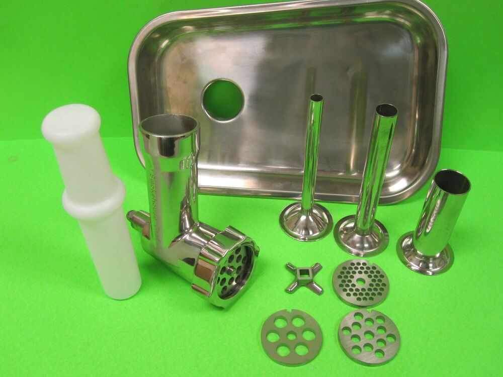 Stainless Steel Metal Meat Grinder Food Chopper Attachment