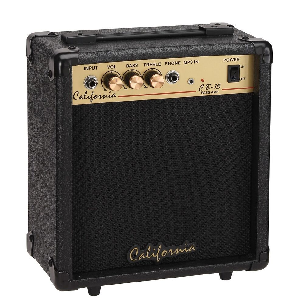 california 15 watts bass amplifier bass guitar practice amplifier cb 15 ebay. Black Bedroom Furniture Sets. Home Design Ideas