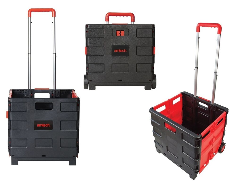 new folding boot cart shopping trolley fold up storage box. Black Bedroom Furniture Sets. Home Design Ideas