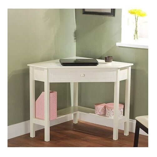 Corner Writing Desk With Drawer Computer Office Home Furniture Table Workstat