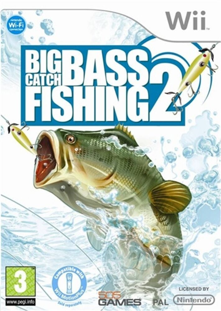 Big catch bass fishing 2 wii pal ebay for Bass pro shop fishing games