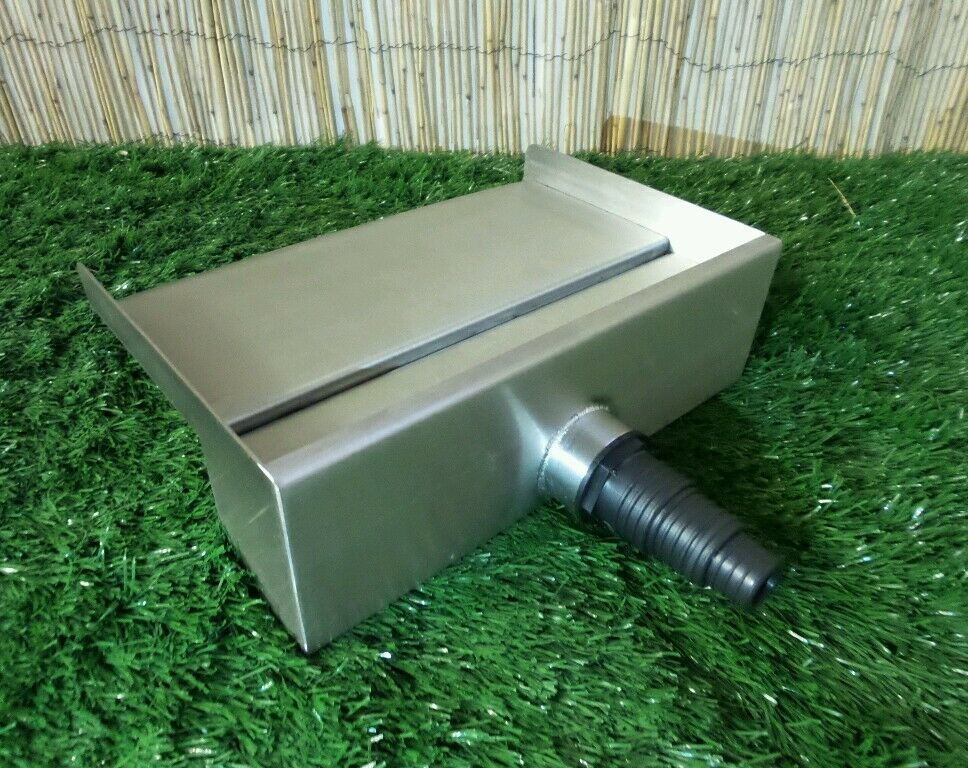 400mm Stainless Steel Waterfall Water Blade Cascade 130mm Spout Pond Back Inlet Ebay