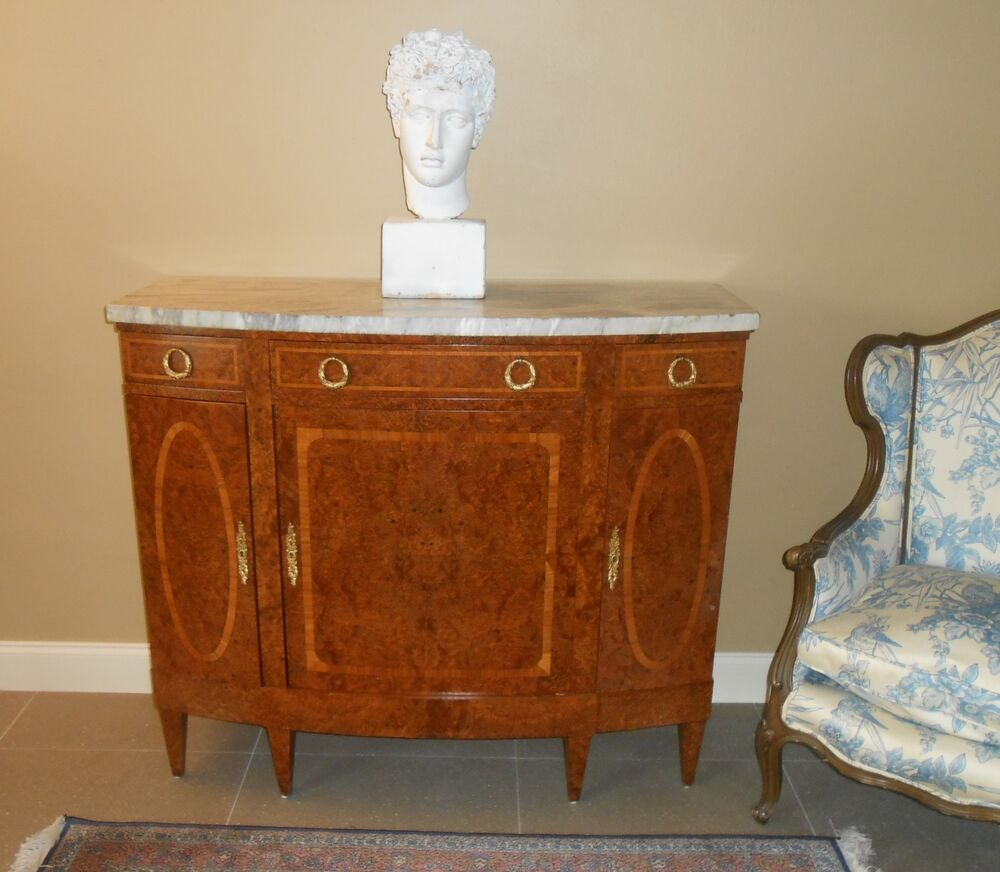 Antique French Regency Bronze Amp Inlaid Amp Marble Commode
