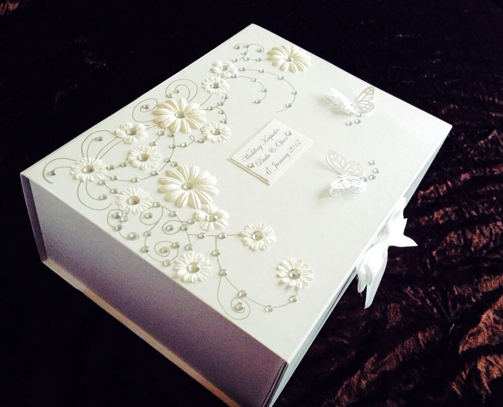 Wedding Gift Box Ebay : ... Large Wedding/Anniversary Personalised Keepsake/Memory Box Gift eBay
