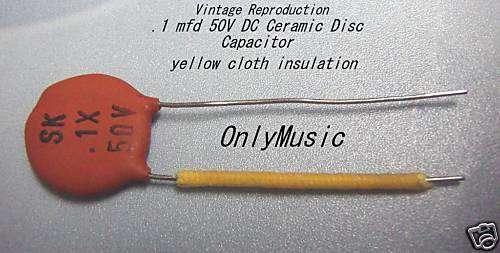 Compatible With Fender Vintage Repro 1 Mfd 50v Capacitor