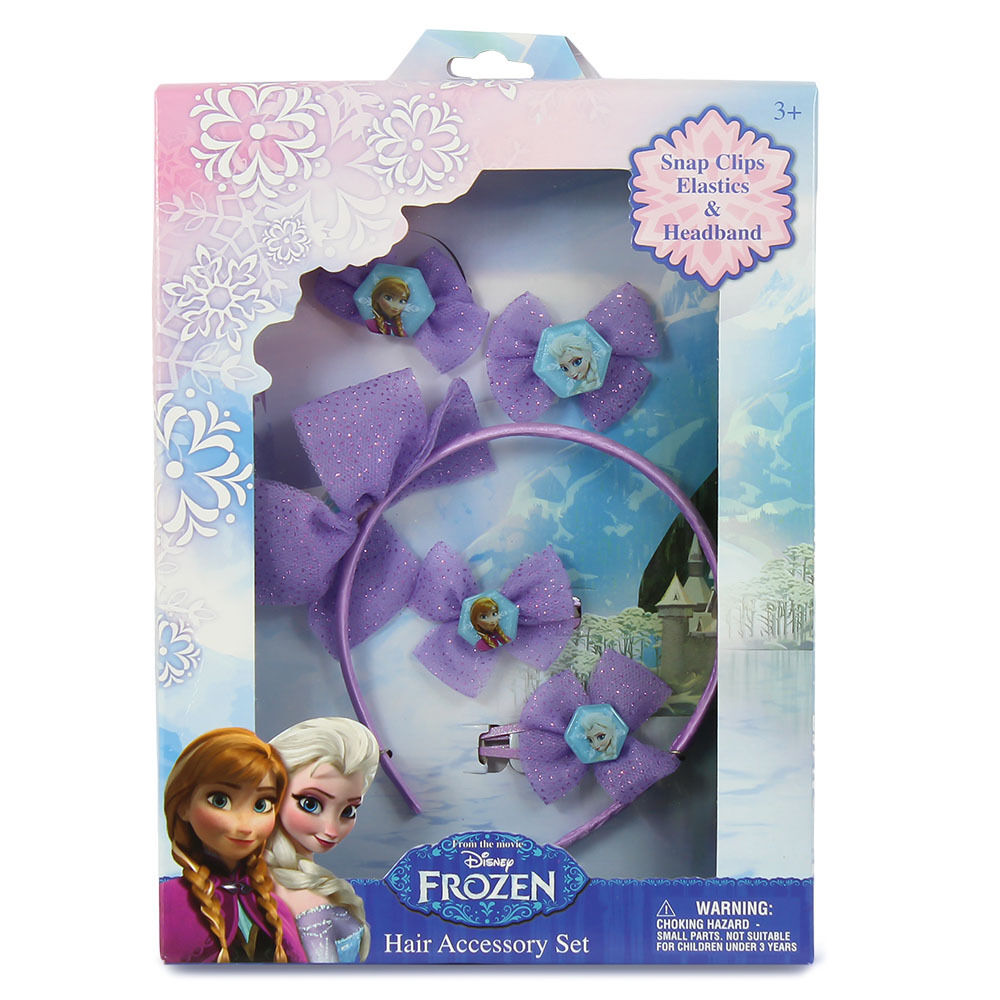 disney frozen die eisk nigin anna und elsa haar set 5t lg hair accessory set ebay. Black Bedroom Furniture Sets. Home Design Ideas
