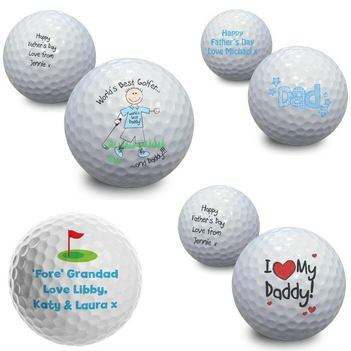 Details About PERSONALISED Golf Ball Fathers Day Birthday Gift Idea For Daddy Dad Golfer