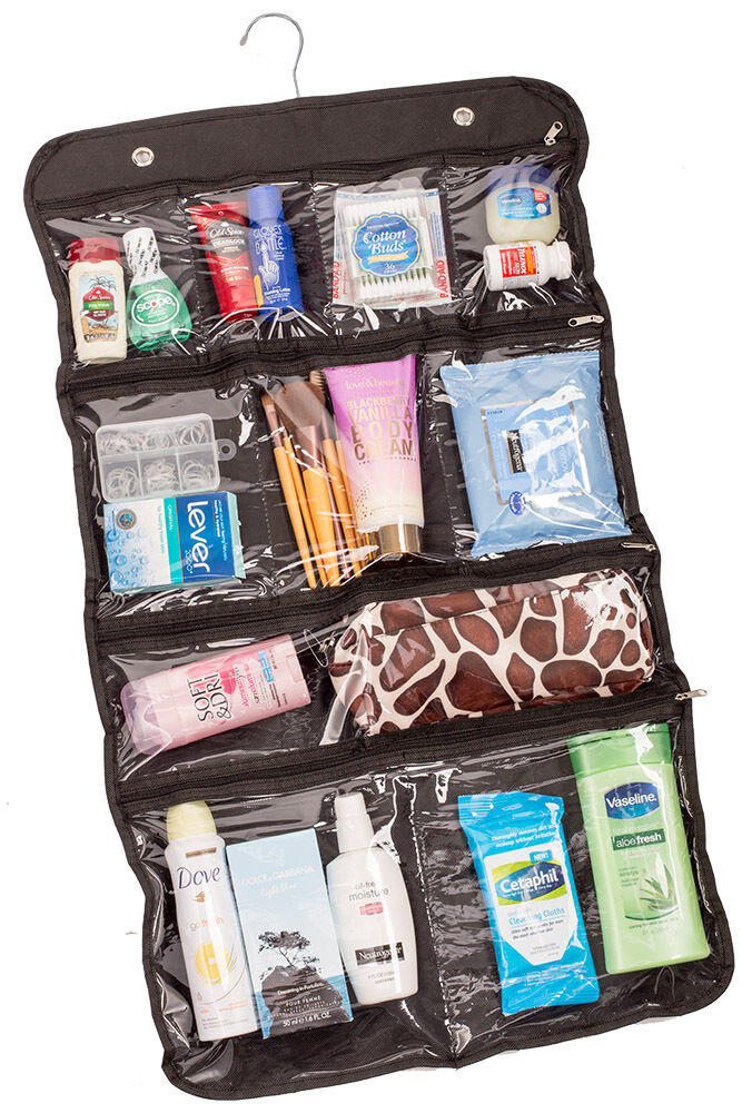 Hanging Cosmetic Bag, Toiletry Travel Organizer, 10 Pocket ...
