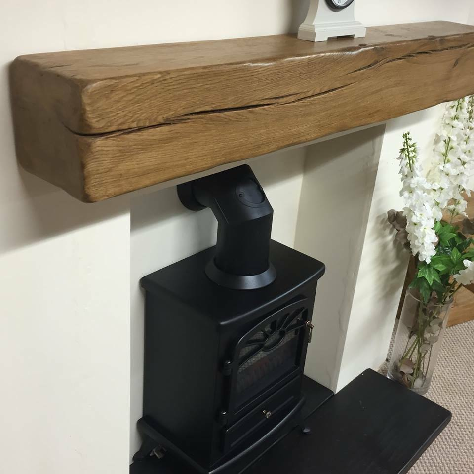 Solid Oak Beam Floating Mantle 54 Quot In Length Including