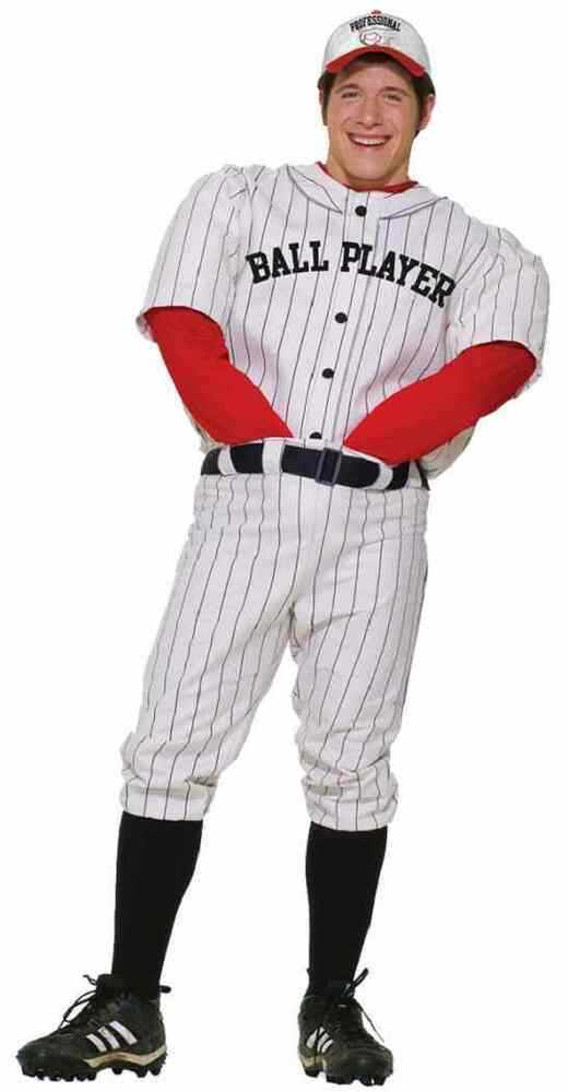 Professional Halloween Makeup Dallas: Professional Ball Player Baseball Sports Fancy Dress