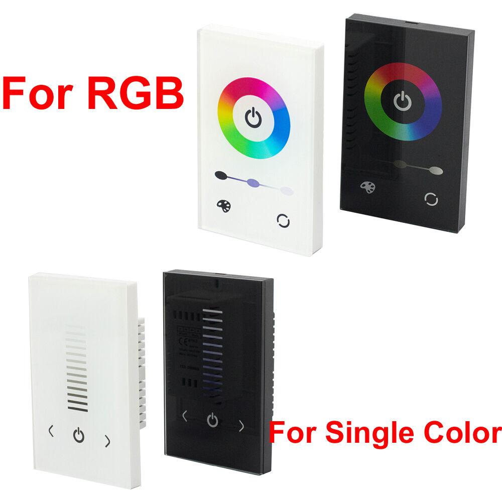 Led Strip Light Wall Dimmer: Glass Touch Panel Dimmer Controller Wall Switch For RGB