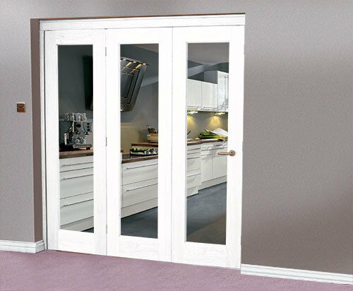 White interior bi fold doors 3 door system 1902 x 2078 for Internal folding doors systems