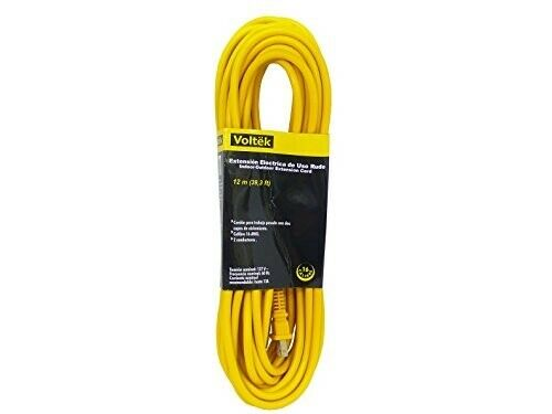 39 3 Feet 12 M Extension Cord Cable 16 Gauge Awg Heavy