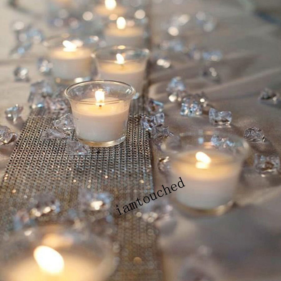 10000x Clear Acrylic Diamond Confetti Table Scatters ...