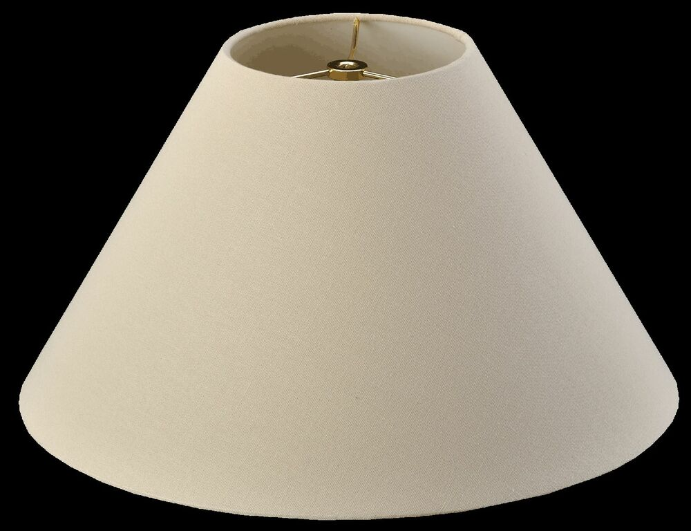 Coolie Homespun Linen Lamp Shade With White Hardback